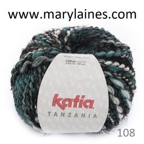 neuves vert Pelotes Katia Tanzania 108