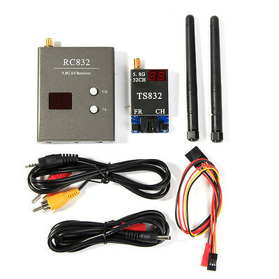 Boscam 32CH 5.8G 600mw 5km Wireless 5V Transmitter Receiver Set TS832 RC832