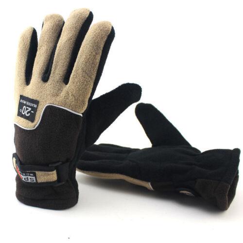 Men Women/'s Snowproof Windproof Fleece Lined Thermal Winter Warm Gloves Mittens
