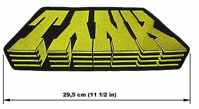 TANK logo BACK PATCH embroidered NEW heavy metal NWOBHM