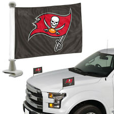 Tampa Bay Buccaneers 2-pack Ambassador Style Auto Flag Car Banner Set Football