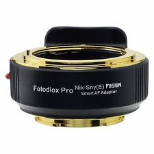Fotodiox Objektivadapter Pro FUSION Smart AF Nikon Linse für Sony E-Mount Kamera