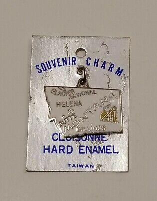 Details about  /Vintage Massachusetts Cloisonne Hard Enamel Charm Souvenir State Flag Map Road