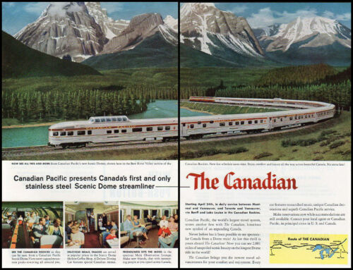 1955 vintage ad for 'the Canadian', Canadian Pacific RR 426