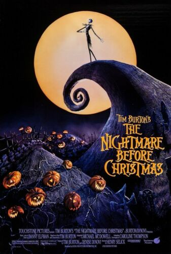 USA Version, NIGHTMARE BEFORE CHRISTMAS MOVIE POSTER Size 24 x 36