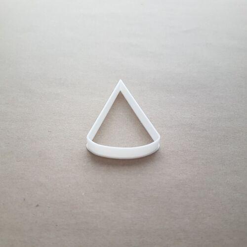 CONE Apex Pyramide Forme Cookie Cutter Pâte Biscuit Pâtisserie Fondant Sharp