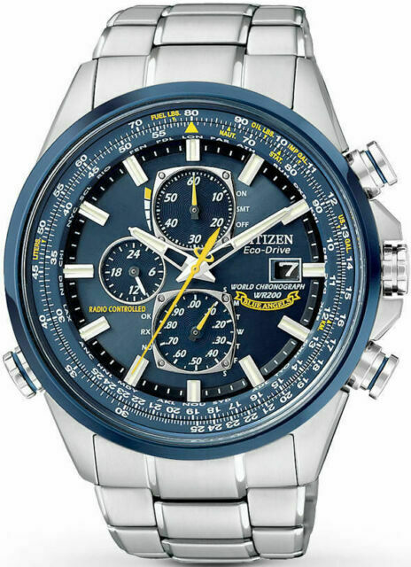 Citizen Eco Drive Blue Angels Chronograph Men's Watch AT8020