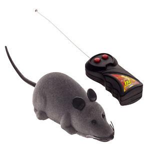 RC Elektrische Ferngesteuerte Ratte Maus mit Fernbedienung Haustier Katzen Hunde Haustierbedarf