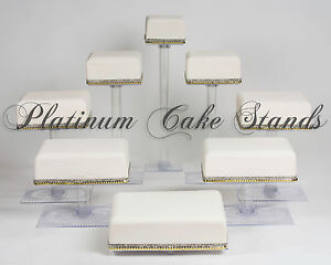 8 TIER SQUARE CASCADE WEDDING CAKE STAND CUPCAKE STAND (STYLE SQ845 ...