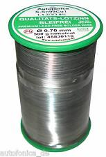 Quality Soldering Tin Lead free 0.0276in 1.1lbs According to DIN Sn99Cu1 wire