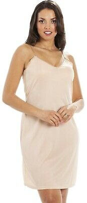 Nude Chemise Slip with adjustable straps size 10-22