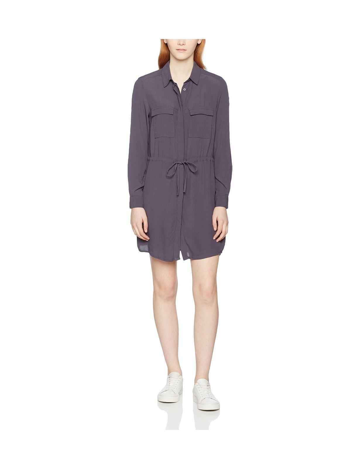 New Look Women's Utility Draw Cord Dress Grey (Dark Grey) 10