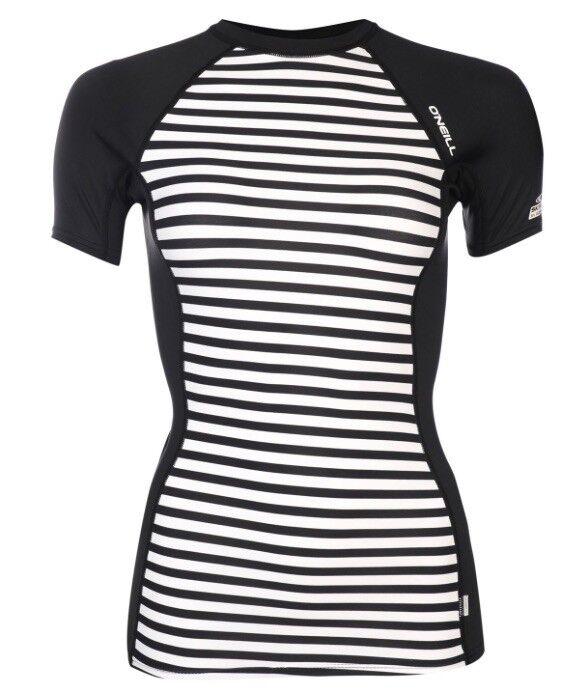 O Neill Damen Rash Vest Neopren Shirt Shirt Shirt Schwarz Weiß Größe XS Neu mit Etikett dc9de3