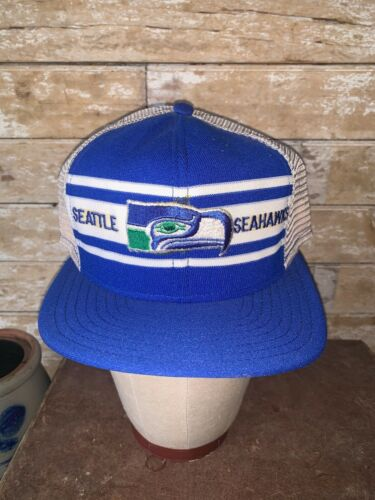 VINTAGE RARE 80s Seattle Seahawks AJD SuperStripe