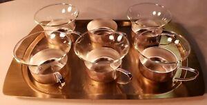 5-6-Jena-Glas-Espresso-Tea-Cordial-Cups-w-Tray-Schott-amp-Gen-Mainz-Germany