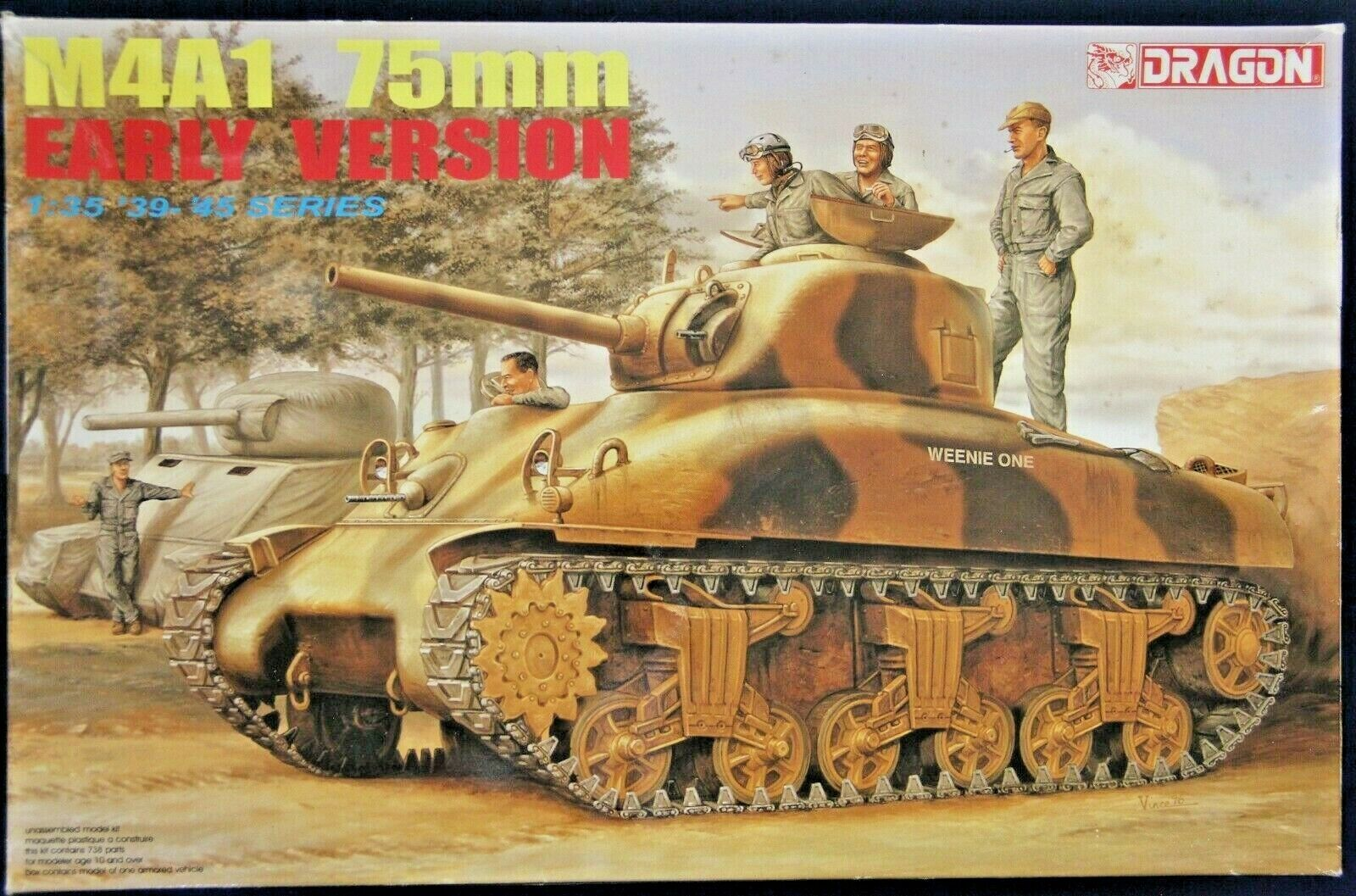 6048 Dragon 1//35 Scale M4A1 75mm Early Version Parts Tree D from Kit No