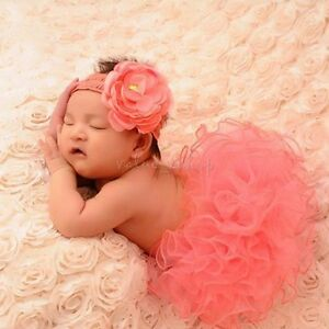 d17b930bea69 Newborn Baby Girl Xmas Gift Tutu Skirt Flower Headband Photo Prop ...