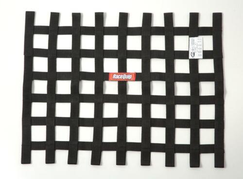 Racequip 725005 Black 18 H X 24 W Ribbon Style Race Car Window Net SFI 27.1