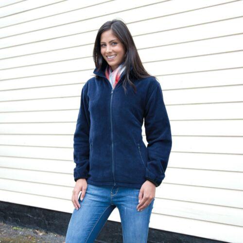 Womens Ladies Full Zip Outdoor Fleece Fashion Fit Jacket Size 8 18 Free PnP