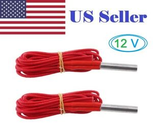 2PCs 12V 40W 6*30mm Single End Cartridge Heater Heating Tube 1m for 3D Printer