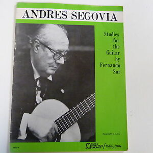 Musical Instruments & Gear Elegant Appearance Ingenious Guitar Andres Segovia Studies For The Guitar By Fernando Sor Guitar