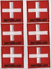 Switzerland Country Iron On Patch Wholesale lot of 6