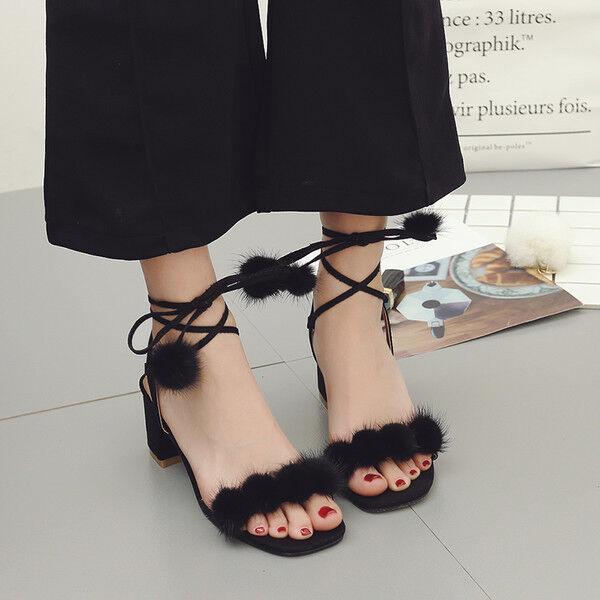 sabot ciabatte 6 cm eleganti  nero  tacco quadrato sandali simil pelle 9966