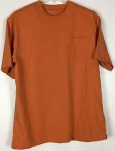 ec38dae3 Details about mens duluth trading Longtail T shirt Large Short sleeve  Pocket crew cotton