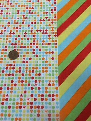 Red Blue Vintage The Circus 396 100/% Cotton Quilting Craft Fabric Benartex
