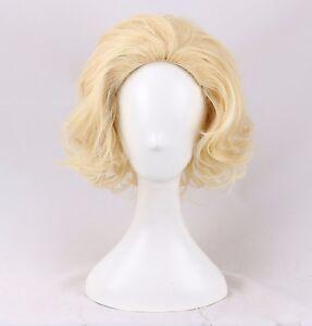 Marilyn-Monroe-Harlow-cosplay-Wig-light-blonde-short-curly-wig-a-wig-cap