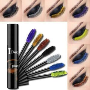 4D-Silk-Fiber-Lashes-Mascara-Waterproof-Coloured-Curling-Eyelash-Extension-Thick