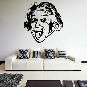 vinyl wand aufkleber albert einstein kleben zum ausblasen. Black Bedroom Furniture Sets. Home Design Ideas