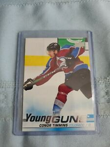 NHL-2019-20-UD-Upper-Deck-CONOR-TIMMINS-034-YOUNG-GUNS-034-RC-Rookie-Card-203-Colorado