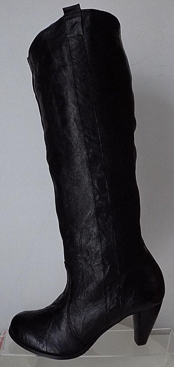 Damen Stiefel Elegant Echtleder Italienische Mode NEU & OVP