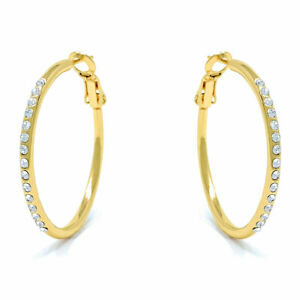 Small-Pave-Hoop-Earrings-with-White-Round-Crystals-from-Swarovski-Gold-Plated