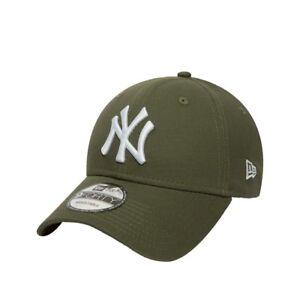 Cappellino-Visiera-Curva-New-Era-New-York-Yankees-Verde-Militare-Unisex