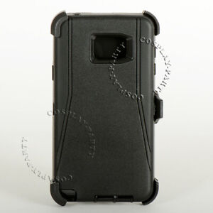 Samsung-Galaxy-Note-5-Defender-Hard-Shell-Case-With-Holster-Belt-Clip-Black
