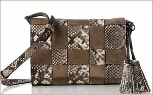 5936edaadb1d NWT MICHAEL KORS VIVIAN WOVEN Embossed- LEATHER and Suede Crossbody ...