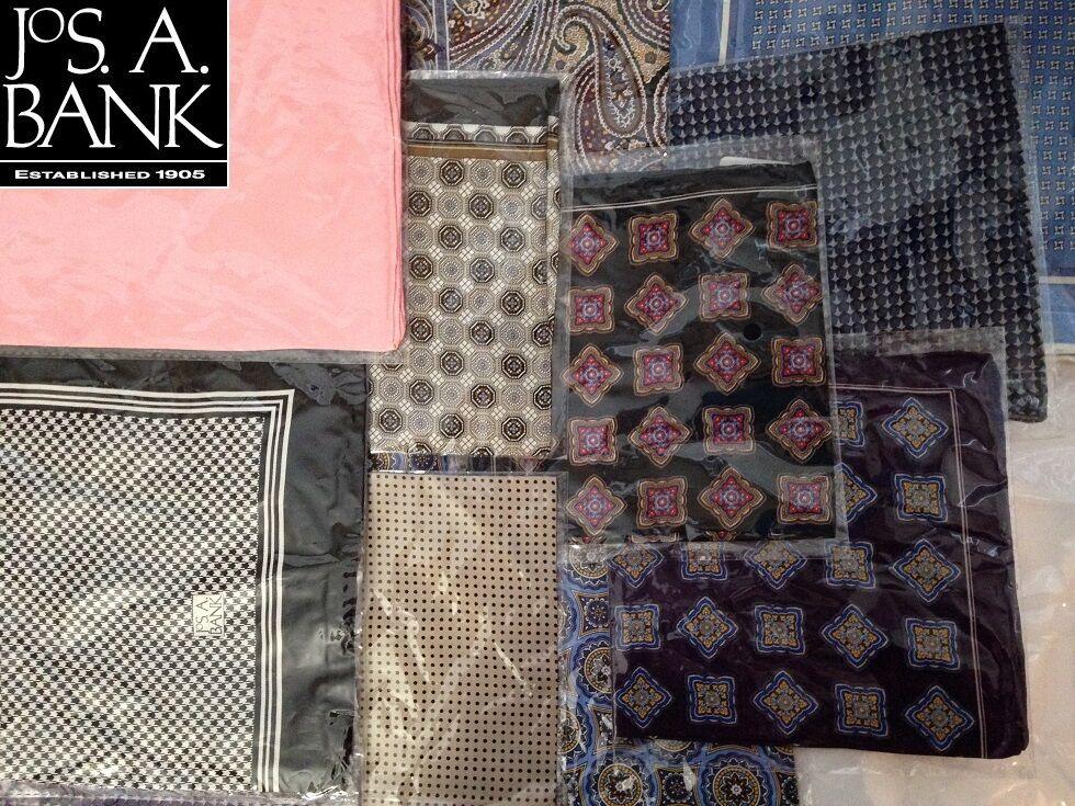 - Jos. A. Bank Silk Pocket Squares, YOUR Choice NEW