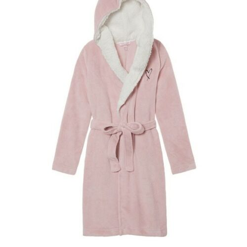 Kimono corto con grande corto medio cappuccio Nwt Abito Secret caldo Victoria's Shower qAcFa7tU