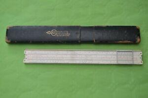 Faber-Castell 1/98/398 Electrical slide rule Jan 1937 case marked 1/98