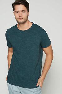 New Men/'s Size Banana Republic Dark Green Wash Crew Neck T-Shirt NWOT L