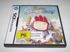 Super-Scribblenauts-Nintendo-DS-2DS-3DS-Game-No-Manual