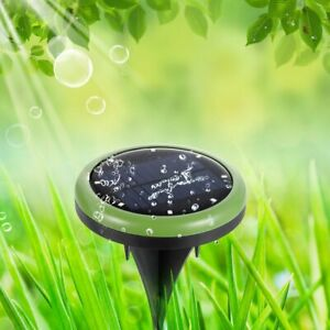 Waterproof Solar Powered 8 LED Disk Light Buried Outdoor Under Ground Lamp