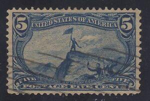 STATI-UNITI-Francobollo-288-5c-Trans-Mississippi-1898-Usato