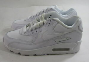 new Nike Air Max 90 Gs White Boys Basketball Shoes 307793-167 Leather -Size 4Y