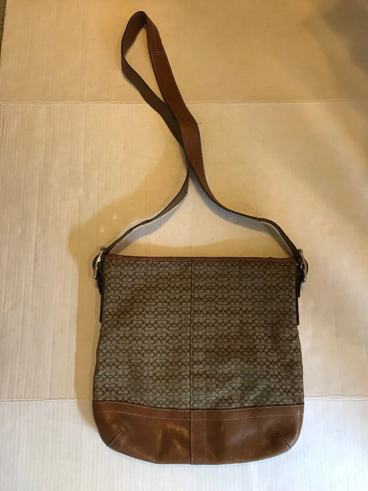 Coach Monogram Canvas Tan Crossbody/Shoulder Bag - image 2