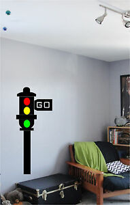 Traffic Light Red Light Wall Sticker Wall Art Decor Vinyl Decal 17x40 eBay