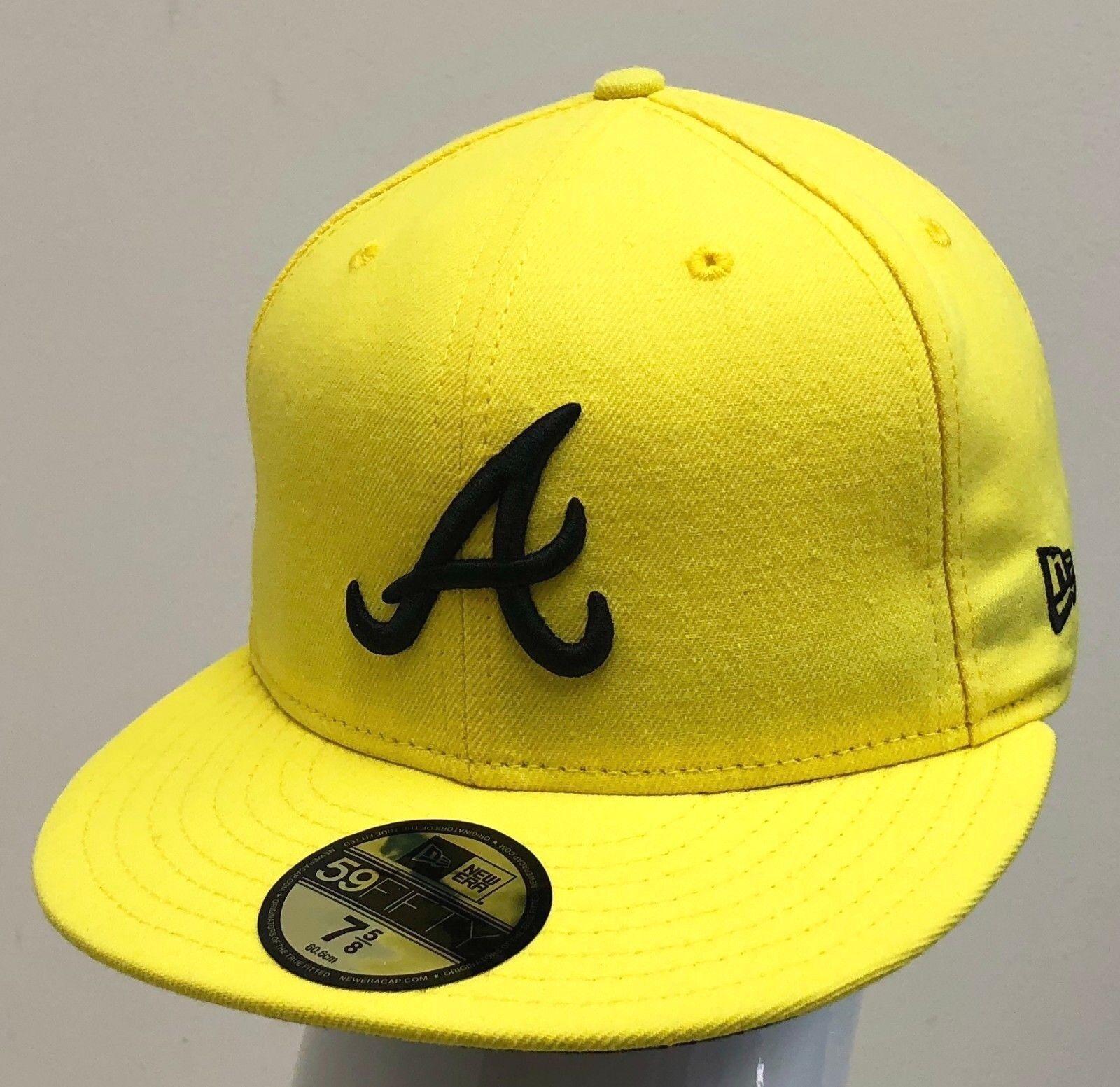 Atlanta Braves LEMON Fitted 7 3//8 Hat Cap
