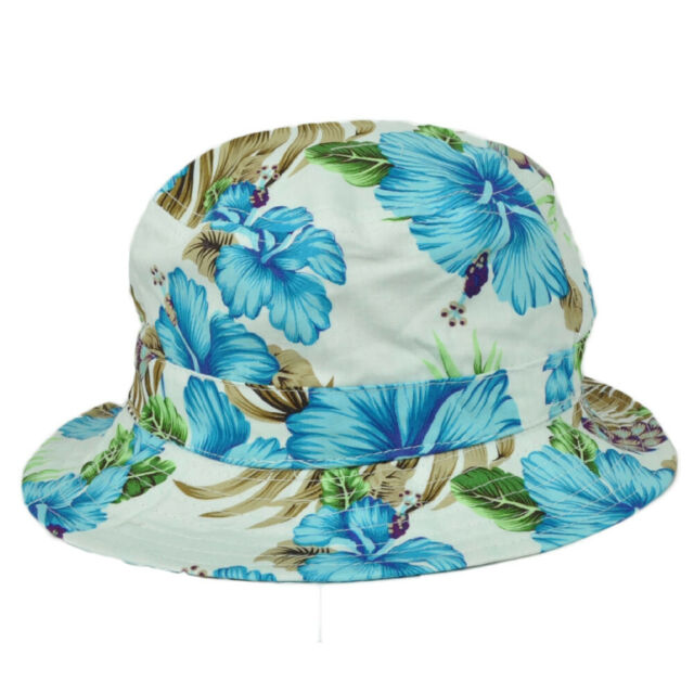 Tropical Floral Printed Polo Style Adjustable Unstructured Baseball Cap